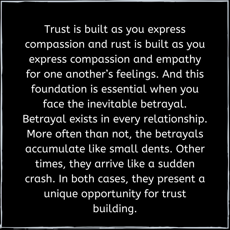 Trust is expressed through compassion and empathy